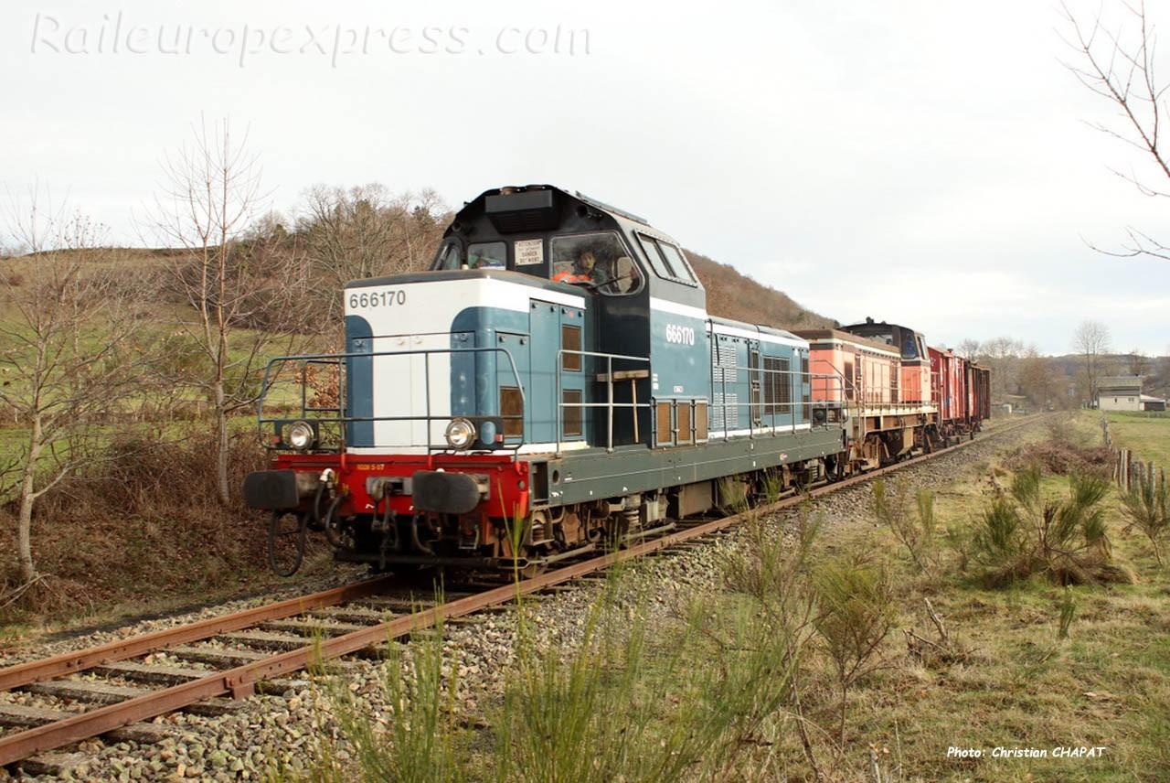 BB 66170 SNCF à Riom ès  Montagne (F-15)