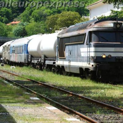 BB 67238  et train desherbeur à Villefort