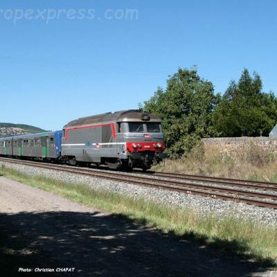 BB 67300 SNCF au Breuil sur Couze (F-63)