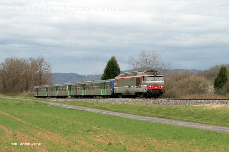 BB 67382 SNCF à Arvant (F-43)