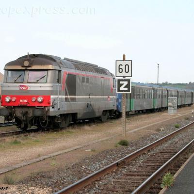 BB 67382 SNCF à Brioude (F-43)