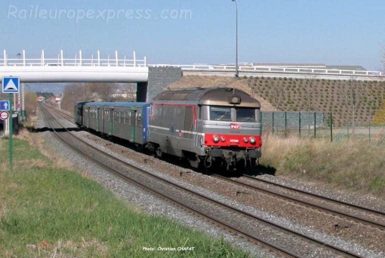 BB 67382 SNCF à Cournon (F-63)