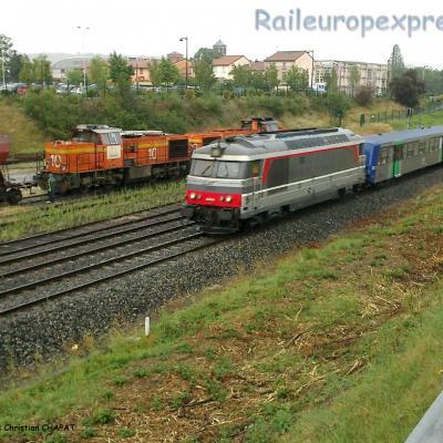 BB 67400 SNCF et Rame Réversible Régionale