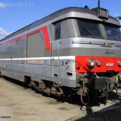 BB 67407 SNCF à Bordeaux (F-33)