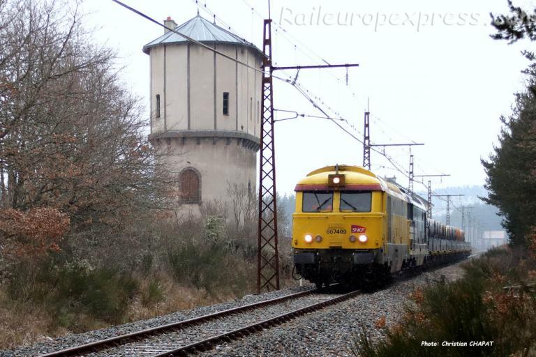 BB 67409 SNCF à Ruynes en Margeride (F-15)
