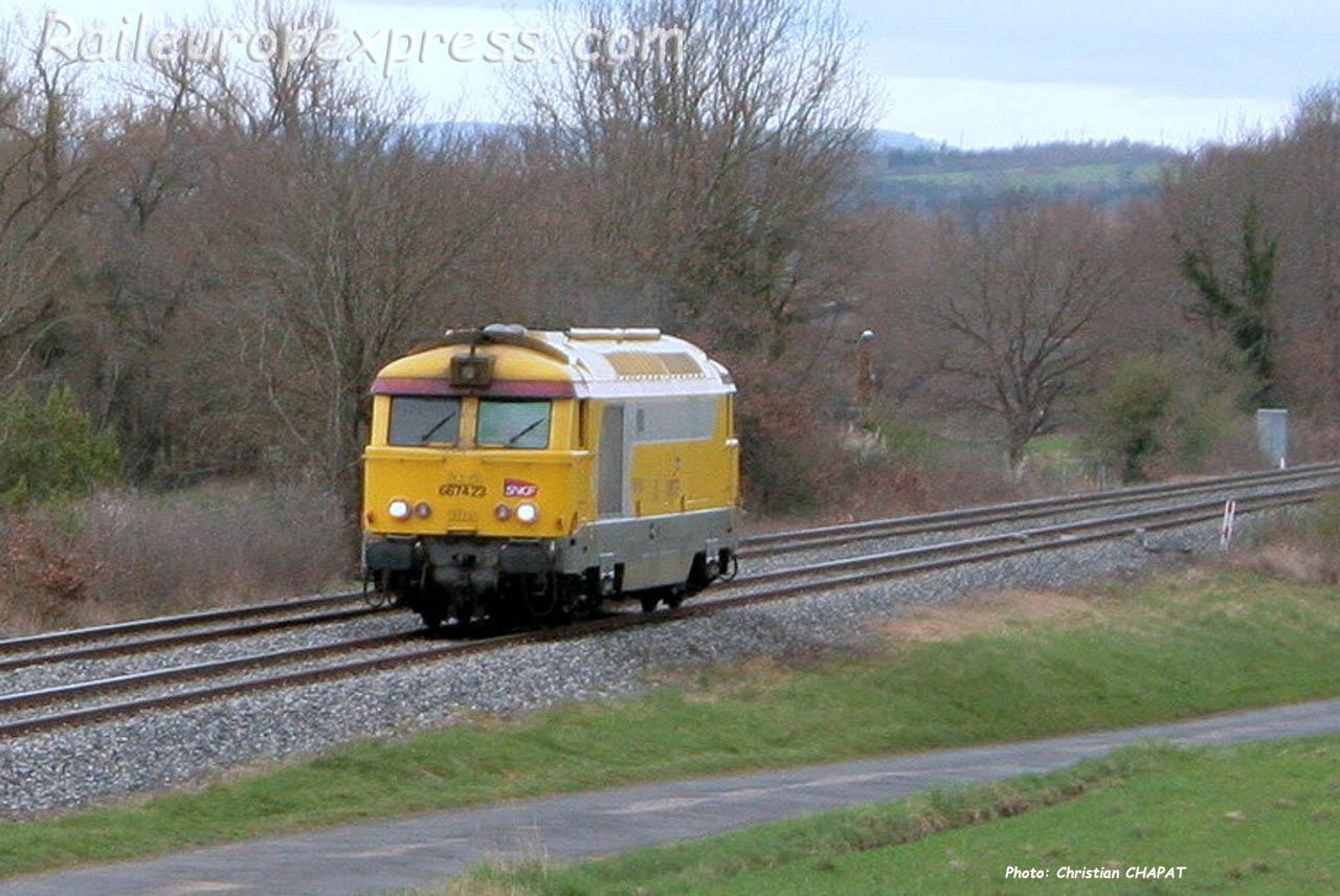 BB 67423 SNCF à Arvant (F-43)
