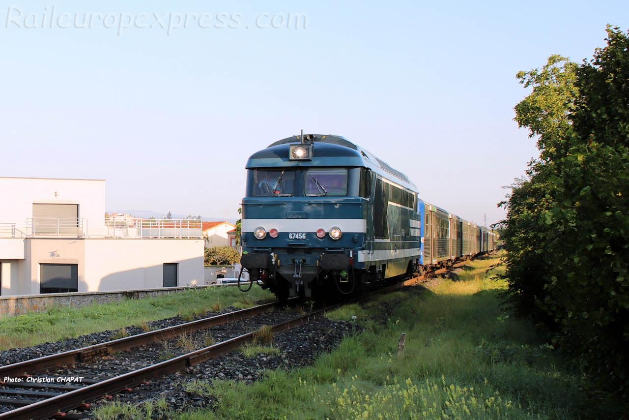 BB 67456 SNCF à Brioude (F-43)