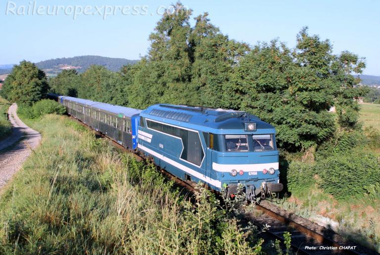 BB 67456 SNCF à Fontannes (F-43)