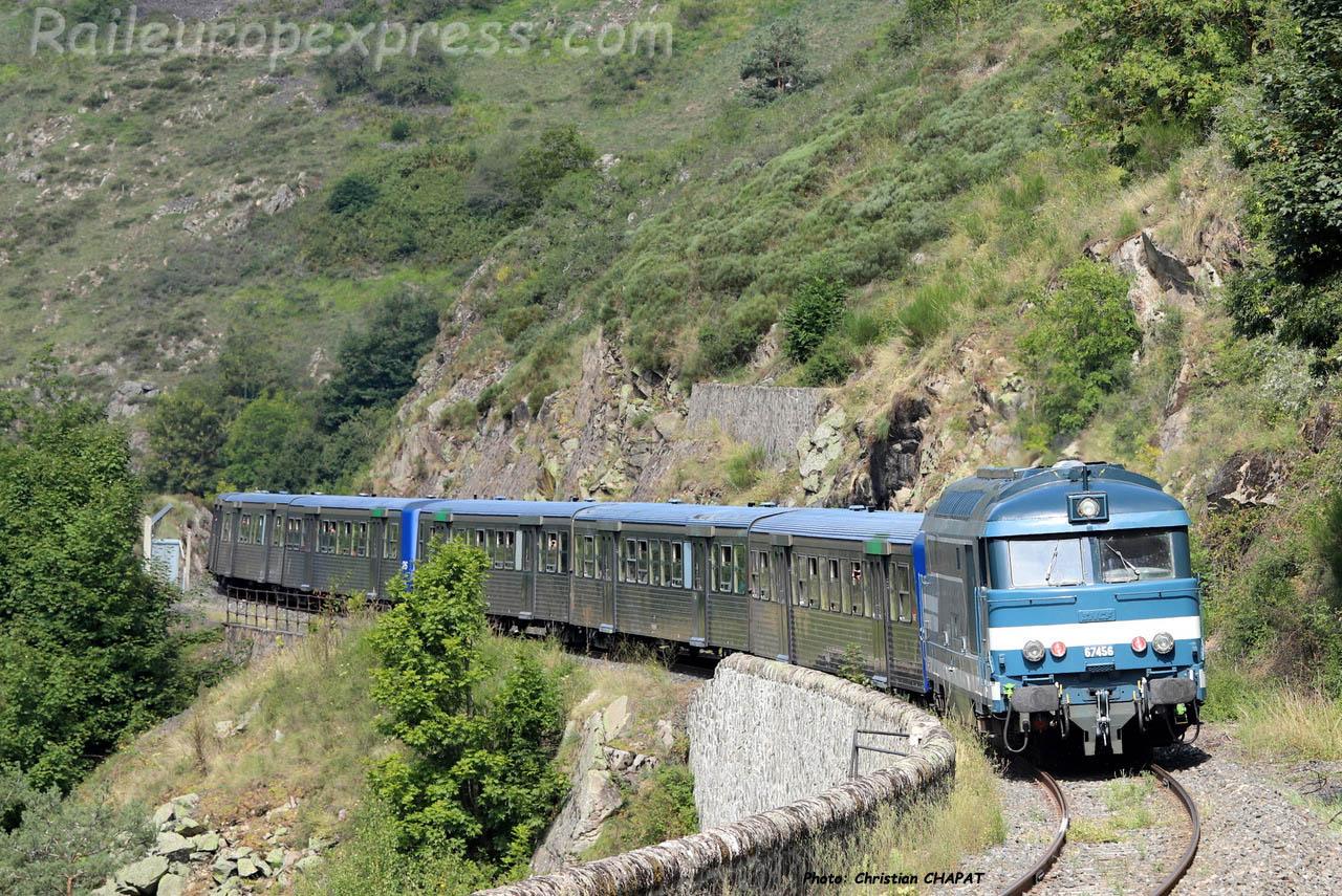 BB 67456 SNCF à Jonchères (F-43)