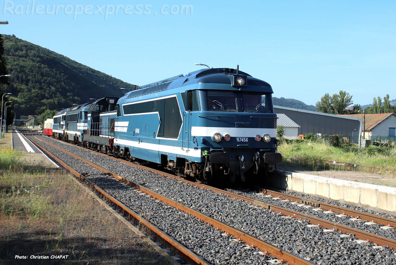 BB 67456 SNCF à Massiac (F-15)