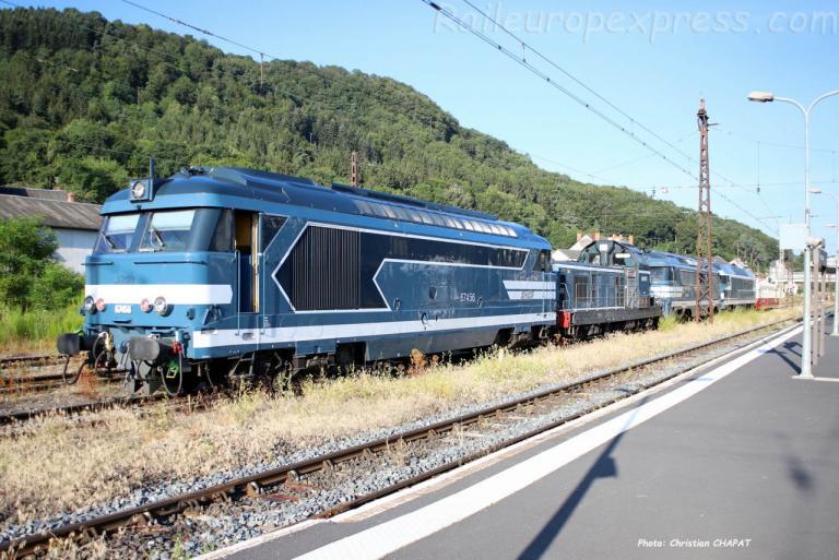 BB 67456 SNCF à Neussargues (F-15)