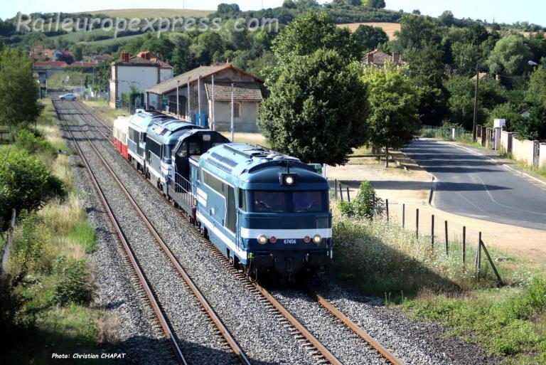 BB 67456 SNCF au Breuil sur Couze (F-43)