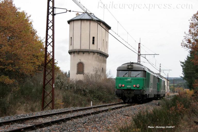 BB 67471 SNCF à Ruynes en Margeride (F-15)