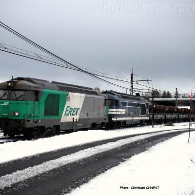BB 67471 SNCF à Saint Flour (F-15)