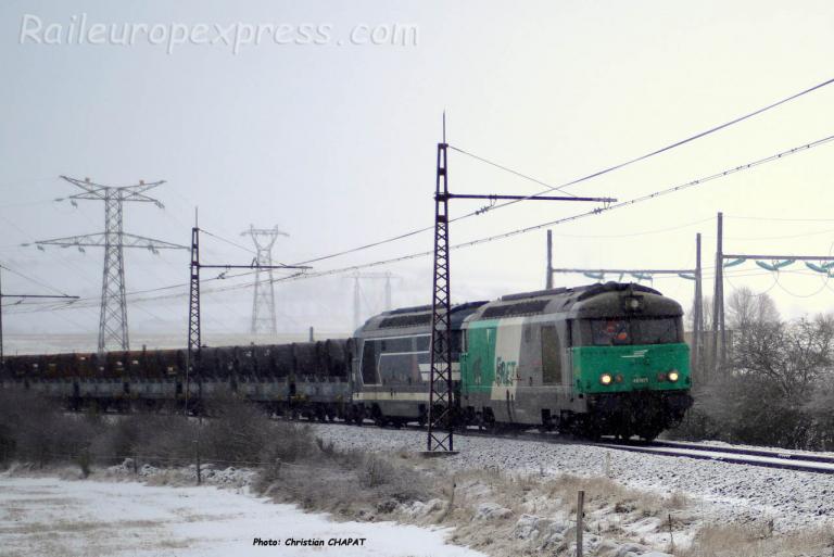 BB 67471 SNCF à Talizat (F-15)