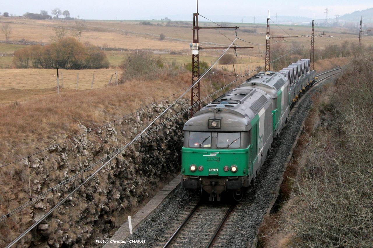 BB 67471 SNCF près de Talizat (F-15)