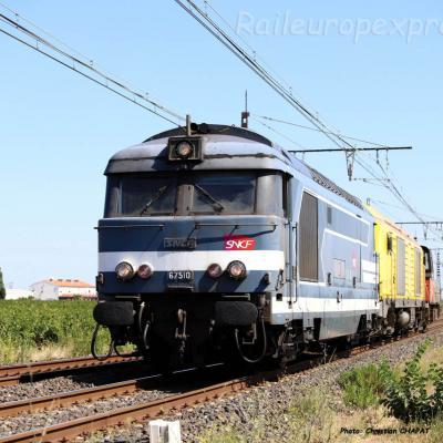 BB 67510 SNCF à Lézignan (F-11)