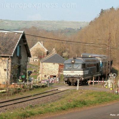 BB 67514 SNCF à Neussargues (F-15)