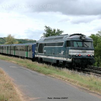 BB 67544 SNCF vers Vic le Comte (F-63)