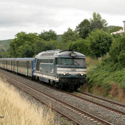 BB 67554 SNCF à Vic le Comte (F-63)