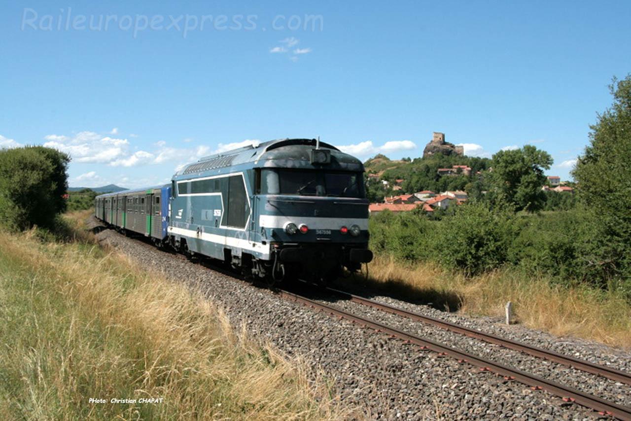 BB 67554 SNCF près d'Arvant (F-43)