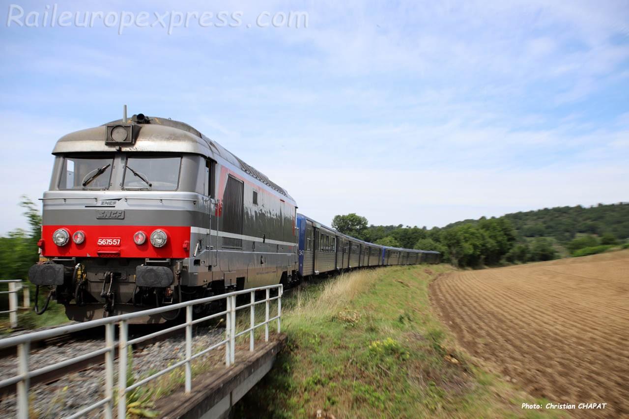 BB 67557 SNCF à Langeac (F-43)