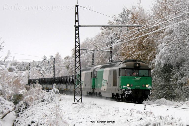 BB 67563 SNCF à Arcomie (F-48)