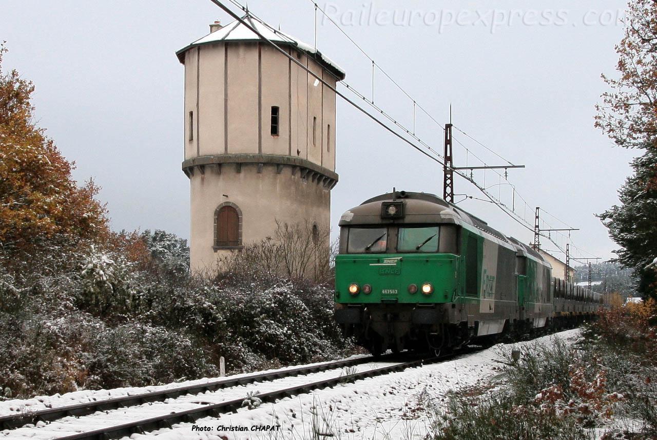 BB 67563 SNCF à Ruynes en Margeride (F-15)