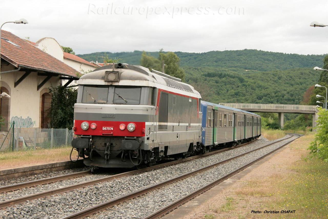 BB 67574 SNCF à Brassac les Mines (F-43)