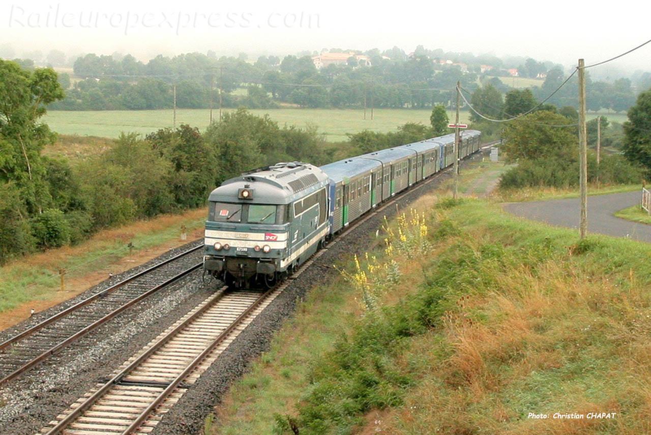 BB 67590 SNCF à Saint Georges d'Aurac (F-43)