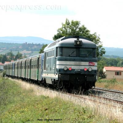 BB 67590 SNCF au Breuil (F-43)