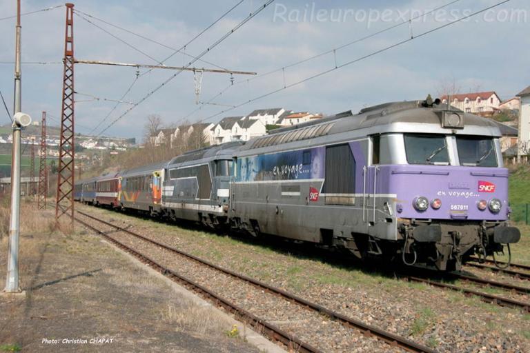 BB 67611 SNCF à Saint Flour (F-15)