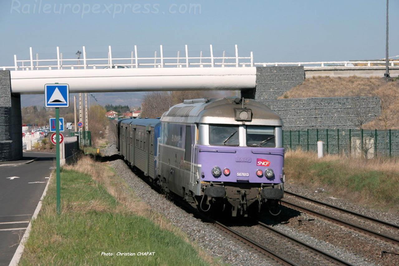 BB 67613 SNCF vers Cournon (F-63)