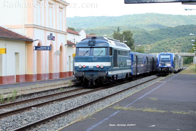 BB 67615 SNCF à Brassac les Mines (F-43)