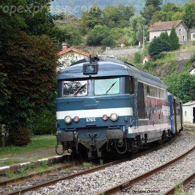 BB 67615 SNCF à Monistrol d'Allier (F-43)