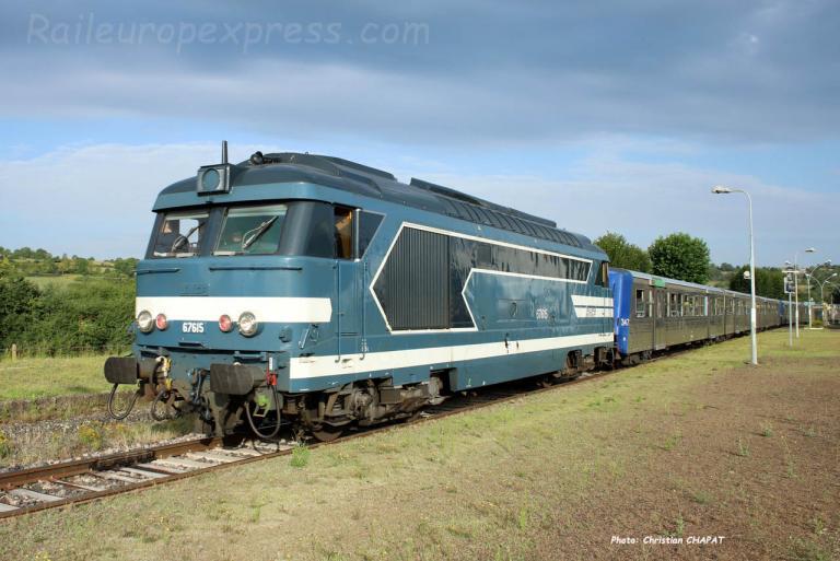 BB 67615 SNCF à Saint Georges d'Aurac (F-43)