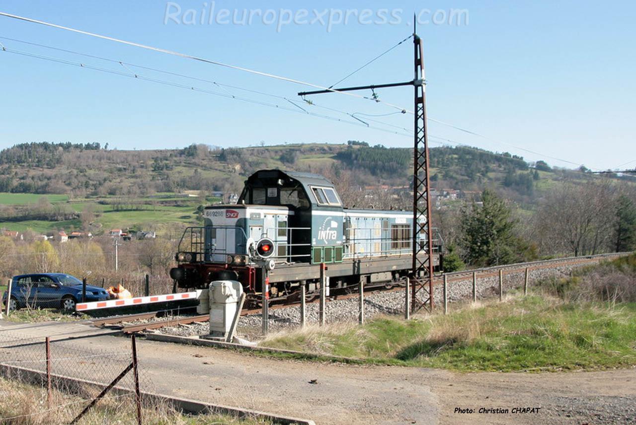 BB 69208 SNCF à Andelat (F-15)