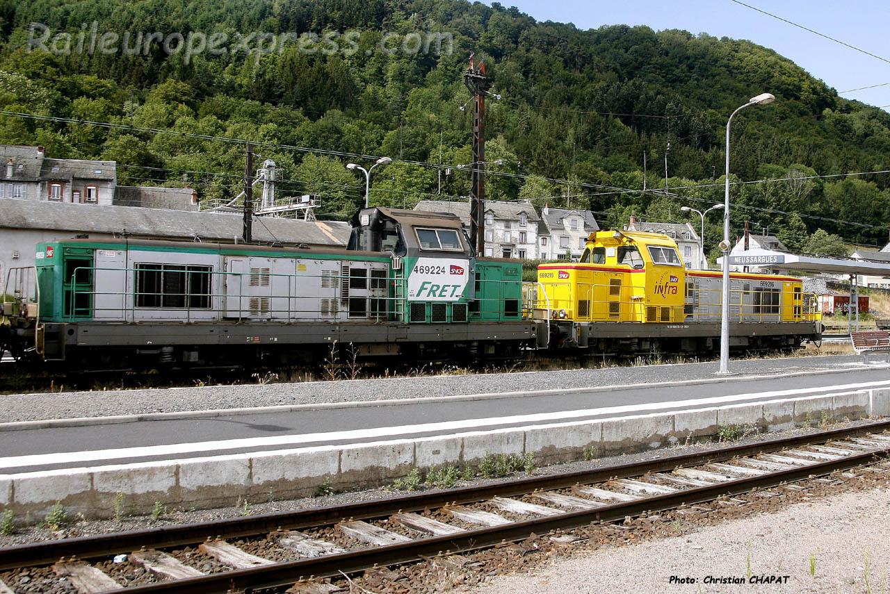 BB 69224 SNCF à Neussargues (F-15)