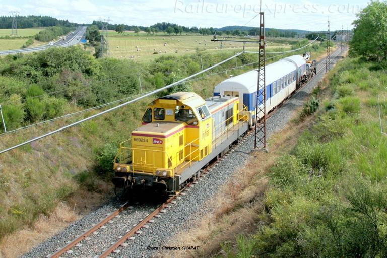 BB 69234 SNCF à Loubaresse (F-15)