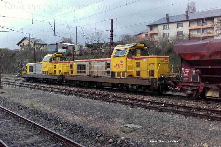 BB 69261 et 69276 SNCF à Marvejols (F-48)