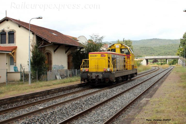BB 69287 SNCF à Brassac les Mines (F-63)