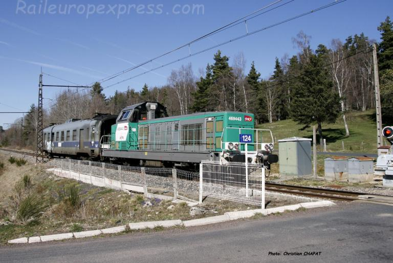 BB 69443 SNCF à Arcomie (F-48)
