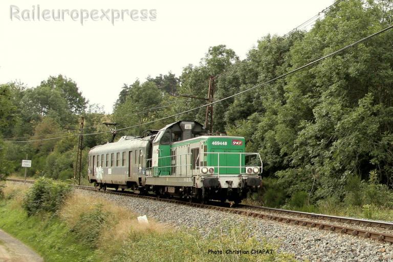 BB 69448 SNCF et graisseur de caténaire