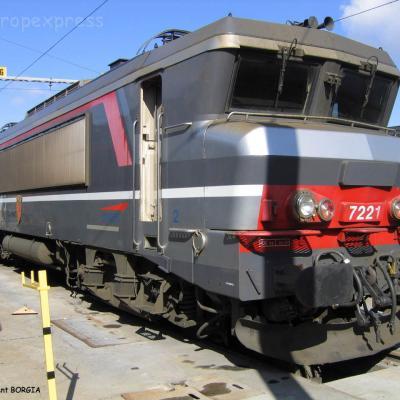 BB 7221 SNCF à Bordeaux (F-33)