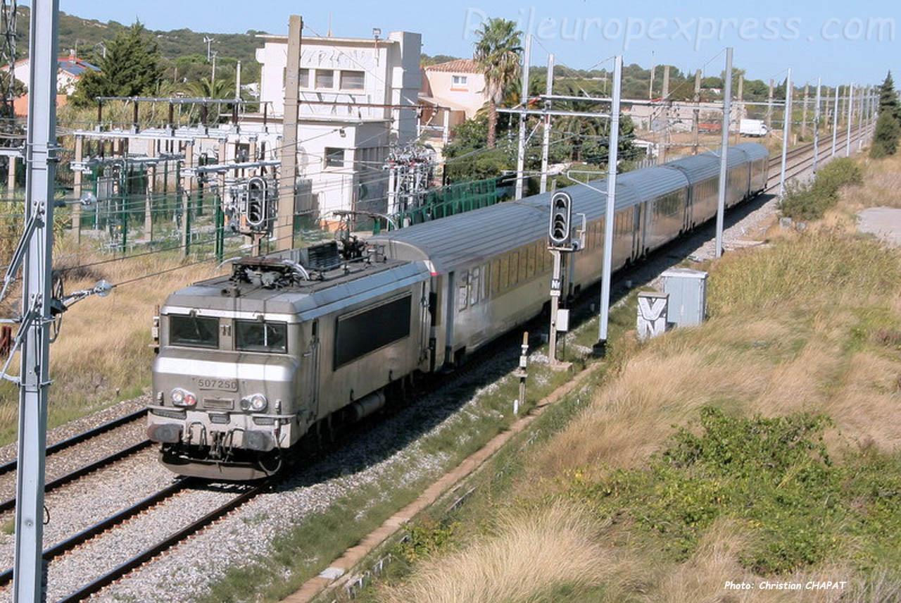 BB 7250 SNCF à Mireval (F-34)