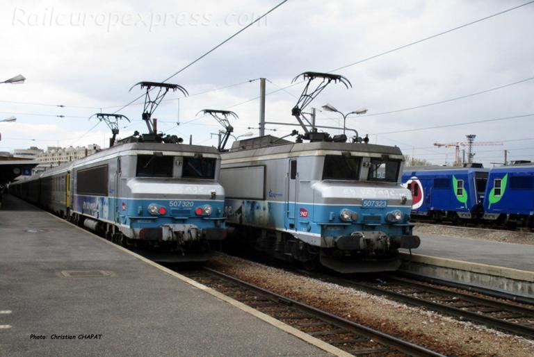 BB 7320 et 7323 SNCF à Paris-Bercy (F-75)