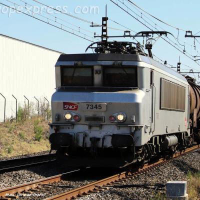 BB 7345 SNCF à Lézignan (F-11)