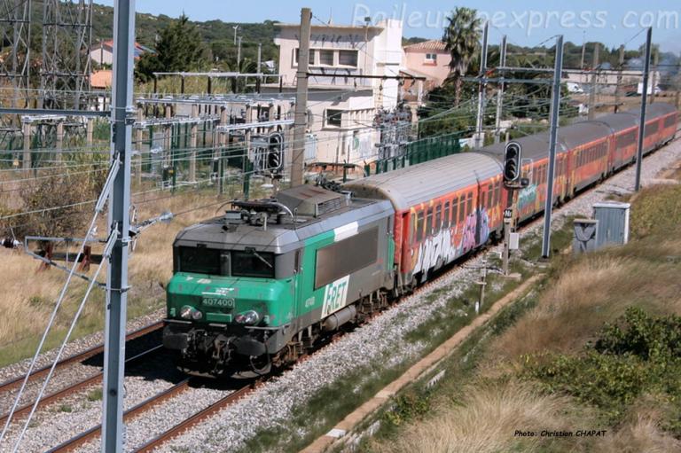 BB 7400 SNCF à Mireval (F-34)