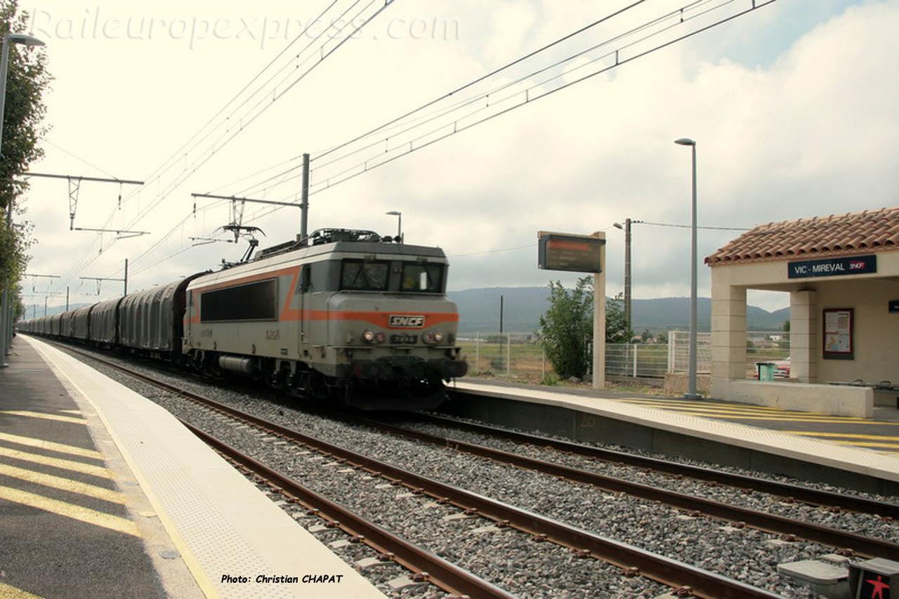 BB 7418 SNCF à Vic-Mireval (F-34)