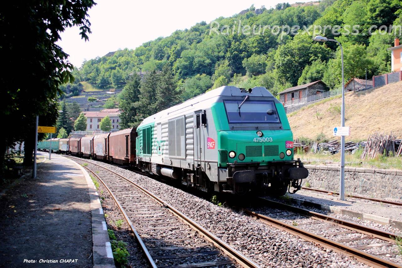 BB 75003 SNCF à Monistrol d'Allier (F-43)